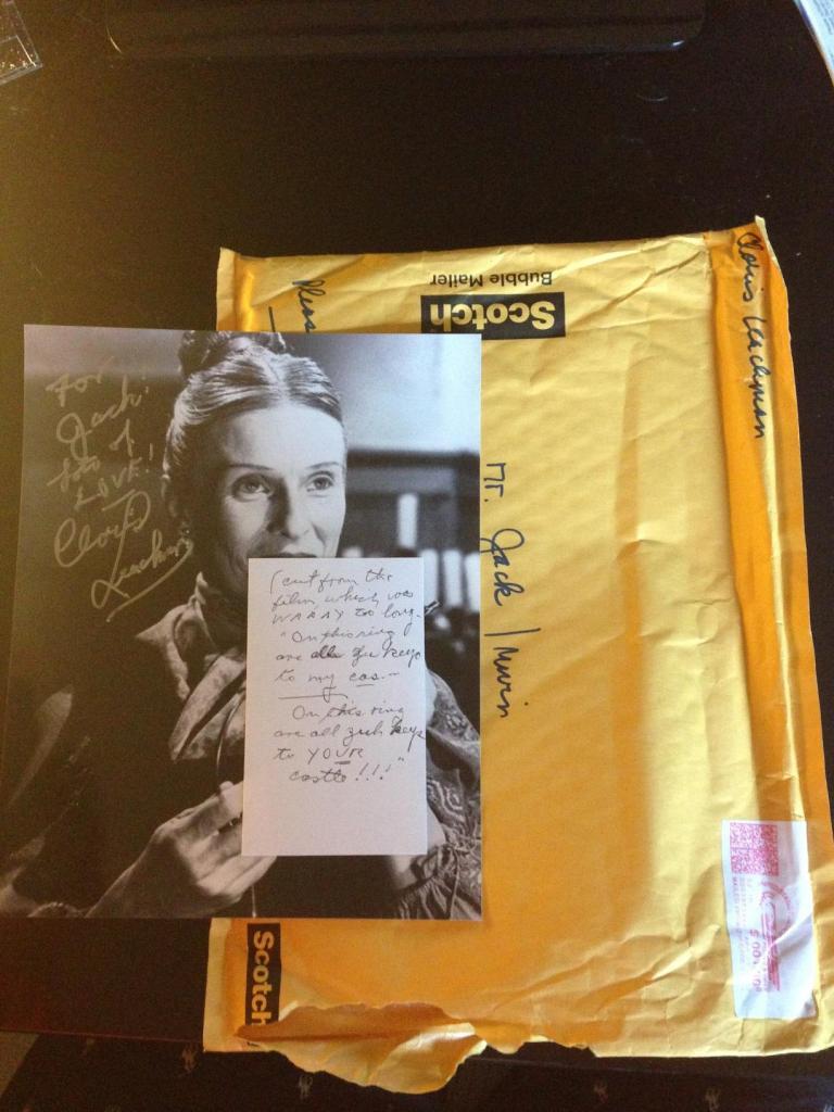 Cloris Leachman fan mail