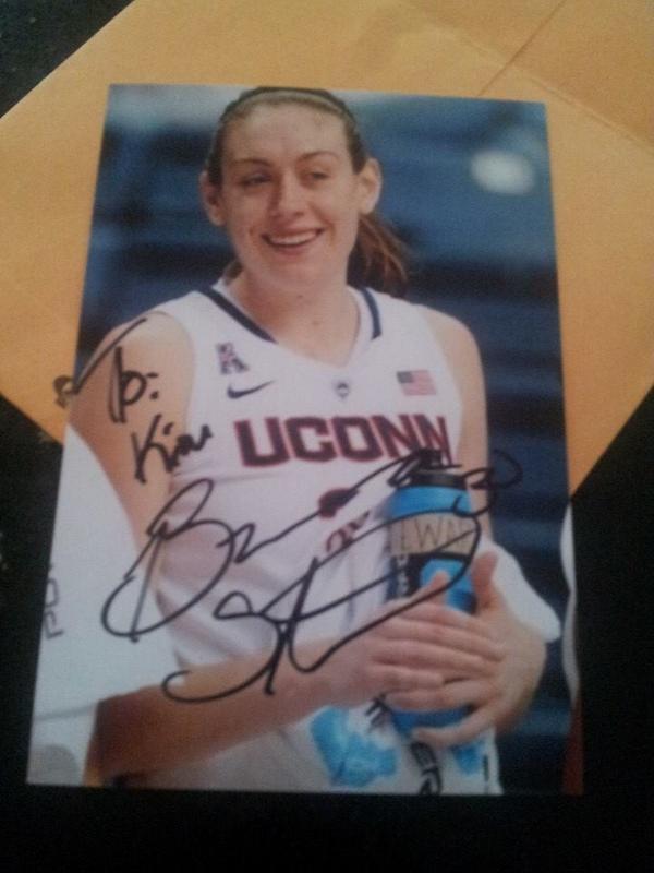 Breanna Stewart autograph